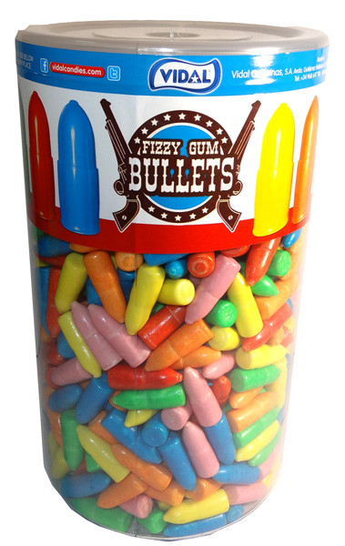 Vidal Fizzy Gum Bullets, by vidal,  and more Confectionery at The Professors Online Lolly Shop. (Image Number :7501)