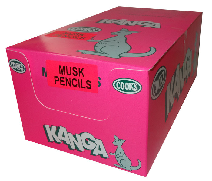 Musk Pencils, by Cooks Confectionery,  and more Confectionery at The Professors Online Lolly Shop. (Image Number :7585)