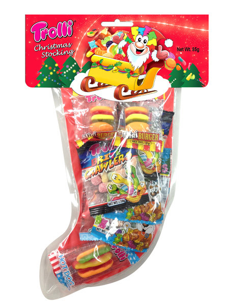 Trolli Christmas Stocking Bulk Box, by Trolli,  and more Confectionery at The Professors Online Lolly Shop. (Image Number :10119)