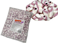 Gummy Filled Marshmallow Twists - Purple Grape, by Universal Candy,  and more Confectionery at The Professors Online Lolly Shop. (Image Number :7601)