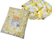 Gummy Filled Marshmallow Twists - Yellow Pineapple, by Universal Candy,  and more Confectionery at The Professors Online Lolly Shop. (Image Number :7598)