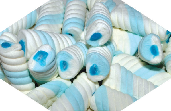Gummy Filled Marshmallow Twists - Blue Blueberry, by Universal Candy,  and more Confectionery at The Professors Online Lolly Shop. (Image Number :7593)