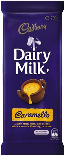Cadbury Caramello Block, by Cadbury,  and more Confectionery at The Professors Online Lolly Shop. (Image Number :9208)