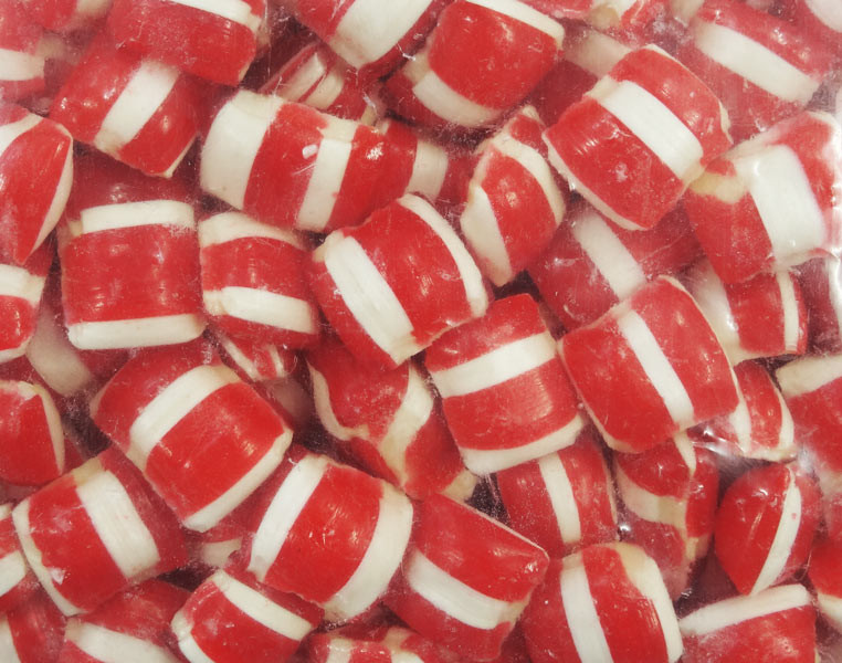 Red and White Bullseyes and more Confectionery at The Professors Online Lolly Shop. (Image Number :8895)