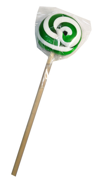 Round Dark Green and White Lollipop, by Designer Candy,  and more Confectionery at The Professors Online Lolly Shop. (Image Number :7670)