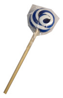 Round Dark Blue and White Lollipop, by Designer Candy,  and more Confectionery at The Professors Online Lolly Shop. (Image Number :7656)