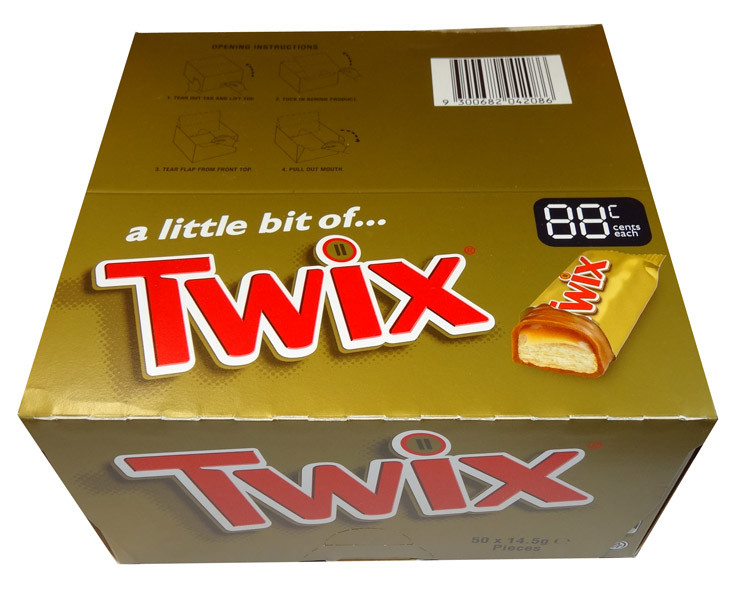 A Little Bit of Twix, by Mars,  and more Confectionery at The Professors Online Lolly Shop. (Image Number :8220)