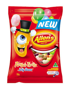 Allens Funfair Thrills Jelly Beans, by Allens Confectionery,  and more Confectionery at The Professors Online Lolly Shop. (Image Number :7747)