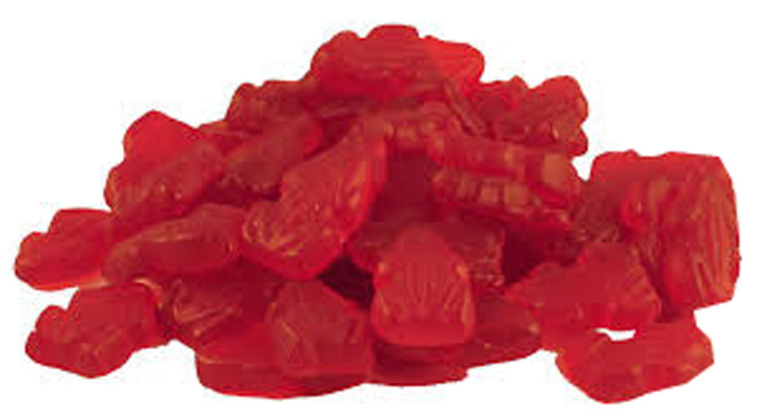 Allens Red Frogs, by Allens Confectionery,  and more Confectionery at The Professors Online Lolly Shop. (Image Number :7644)