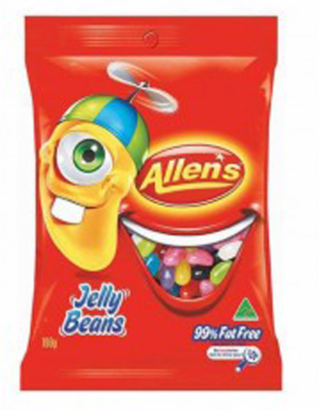 Allens Jelly Beans, by Allens Confectionery,  and more Confectionery at The Professors Online Lolly Shop. (Image Number :7741)