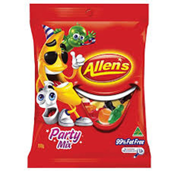 Allens Party Mix, by Allens Confectionery,  and more Confectionery at The Professors Online Lolly Shop. (Image Number :7737)