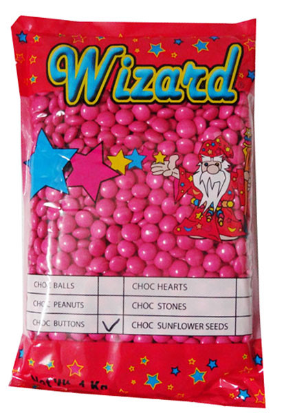 Wizard Choc Buttons - Hot Pink, by Wizard,  and more Confectionery at The Professors Online Lolly Shop. (Image Number :8187)