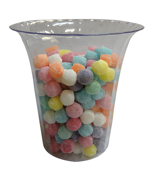 Clear Plastic Candy Buffet Flared  Cylinder - Medium and more Partyware at The Professors Online Lolly Shop. (Image Number :10195)