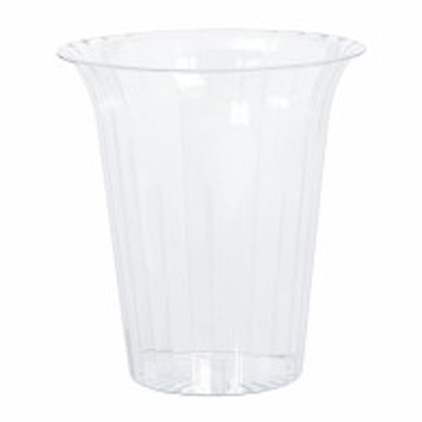 Clear Plastic Candy Buffet Flared  Cylinder - Medium and more Partyware at The Professors Online Lolly Shop. (Image Number :7672)