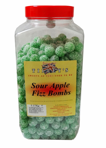 Tilley s Mega Sour Fizz Bombs - Apple Flavour, by Tilleys,  and more Confectionery at The Professors Online Lolly Shop. (Image Number :7731)