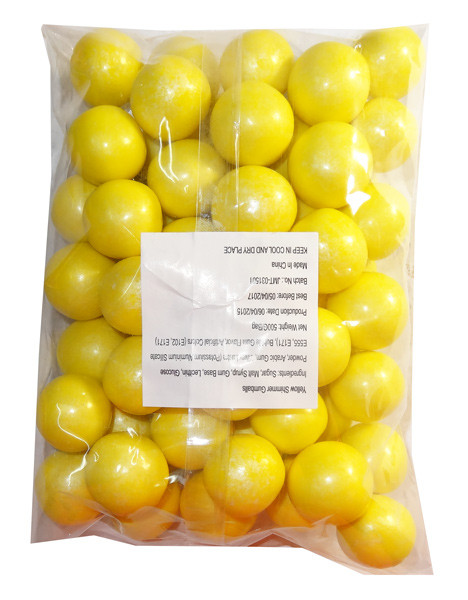 Sweet Treats Shimmer Gumballs - Yellow, by Brisbane Bulk Supplies,  and more Confectionery at The Professors Online Lolly Shop. (Image Number :7805)