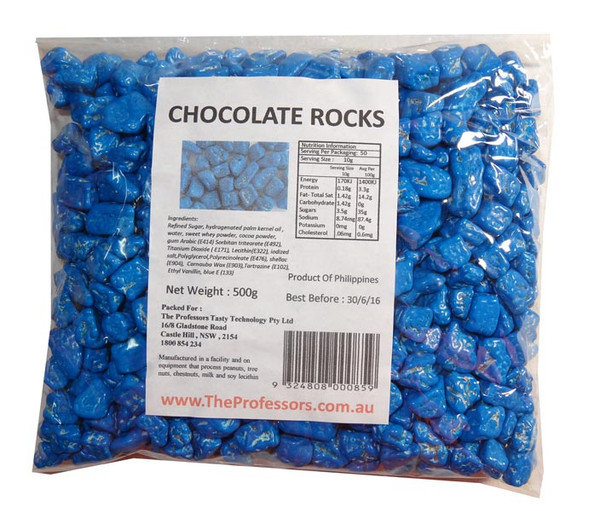 Chocolate Rocks - Blue, by Brisbane Bulk Supplies,  and more Confectionery at The Professors Online Lolly Shop. (Image Number :7828)
