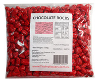 Chocolate Rocks - Red, by Brisbane Bulk Supplies,  and more Confectionery at The Professors Online Lolly Shop. (Image Number :7826)