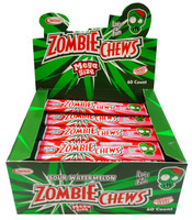 Zombie Chews - Sour Watermelon, by Sweetmans,  and more Confectionery at The Professors Online Lolly Shop. (Image Number :8336)