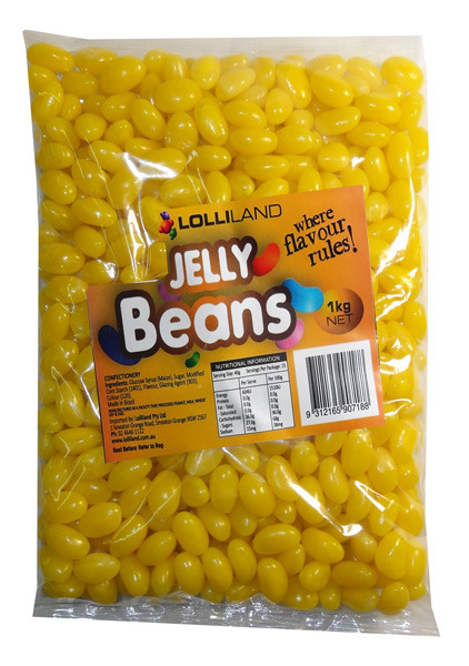 Lolliland Jelly Beans - Yellow, by Lolliland,  and more Confectionery at The Professors Online Lolly Shop. (Image Number :7907)