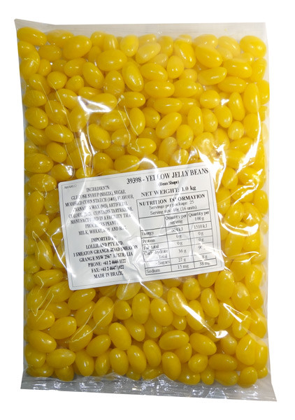 Lolliland Jelly Beans - Yellow, by Lolliland,  and more Confectionery at The Professors Online Lolly Shop. (Image Number :7908)