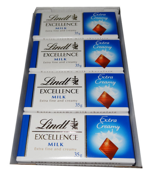 Lindt Excellence - Milk Chocolate Bars, by Lindt,  and more Confectionery at The Professors Online Lolly Shop. (Image Number :7937)