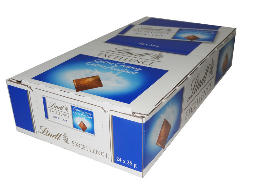 Lindt Excellence - Milk Chocolate Bars, by Lindt,  and more Confectionery at The Professors Online Lolly Shop. (Image Number :7938)