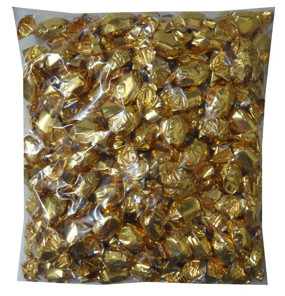 Butterscotch - Gold Foil Wrap and more Confectionery at The Professors Online Lolly Shop. (Image Number :7921)