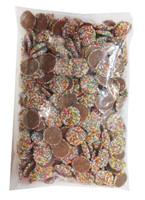 Sweetworld - Choc Jewels with Multi-Coloured Speckles, by Hugos Confectionery,  and more Confectionery at The Professors Online Lolly Shop. (Image Number :8166)