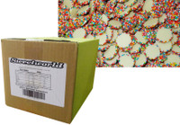 Sweetworld - White Choc Jewels with Multi-Coloured Speckles, by Hugos Confectionery,  and more Confectionery at The Professors Online Lolly Shop. (Image Number :8596)