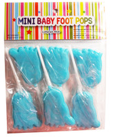 Mini Baby Foot Pops - Blue and more Confectionery at The Professors Online Lolly Shop. (Image Number :7980)