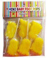 Mini Baby Foot Pops - Yellow and more Confectionery at The Professors Online Lolly Shop. (Image Number :7979)