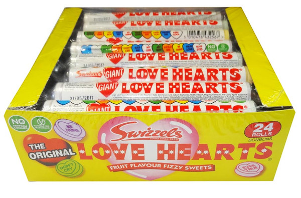 Swizzels Love Heart Rolls Giant, by Swizzels Matlow,  and more Confectionery at The Professors Online Lolly Shop. (Image Number :8178)