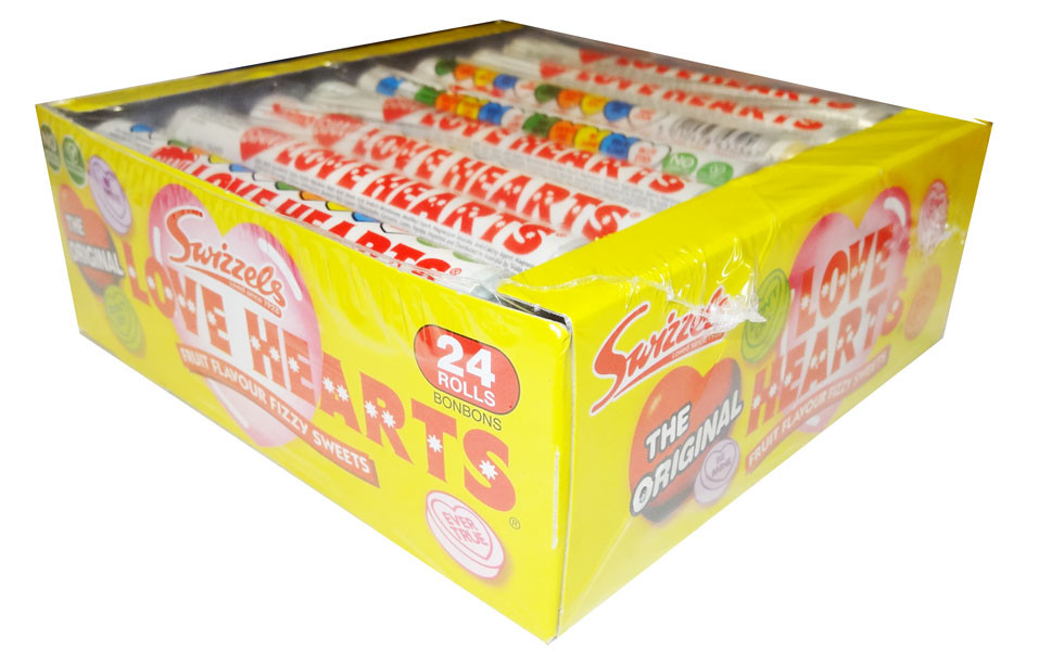 Swizzels Love Heart Rolls Giant, by Swizzels Matlow,  and more Confectionery at The Professors Online Lolly Shop. (Image Number :8179)