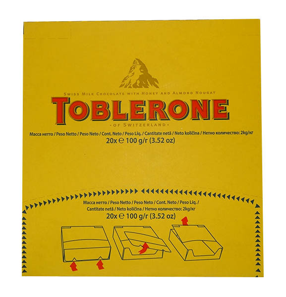 Toblerone Milk Chocolate Bar and more Confectionery at The Professors Online Lolly Shop. (Image Number :9954)