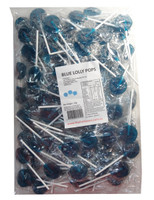 Sweet Treats Flat Pops - Single Colour - Blue, by Brisbane Bulk Supplies,  and more Confectionery at The Professors Online Lolly Shop. (Image Number :7967)