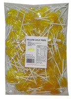 Sweet Treats Flat Pops - Single Colour - Yellow, by Brisbane Bulk Supplies,  and more Confectionery at The Professors Online Lolly Shop. (Image Number :7963)