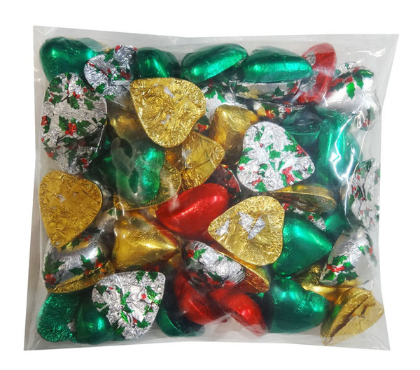 Chocolate Gems - Chocolate Hearts - Christmas Mix, by Chocolate Gems,  and more Confectionery at The Professors Online Lolly Shop. (Image Number :8367)