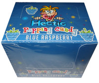 Hectic popping candy - Blue raspberry and more Confectionery at The Professors Online Lolly Shop. (Image Number :8183)