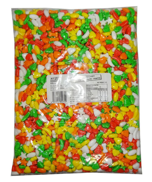 Compressed Candy - Rainbow Fruits, by AIT Confectionery,  and more Confectionery at The Professors Online Lolly Shop. (Image Number :8157)