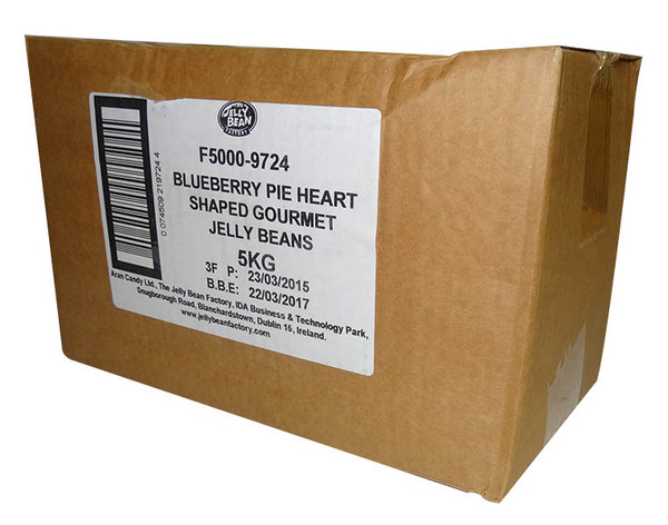 Love Heart Shaped Gourmet Jelly Beans - Blue - Blueberry Flavoured, by Other,  and more Confectionery at The Professors Online Lolly Shop. (Image Number :9919)