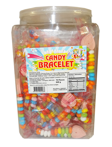Candy Bracelet and more Confectionery at The Professors Online Lolly Shop. (Image Number :9133)