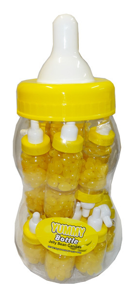 Baby Bottle Jelly Beans - Yellow - Single Colour Yellow Jelly Beans, by Brisbane Bulk Supplies,  and more Confectionery at The Professors Online Lolly Shop. (Image Number :8342)