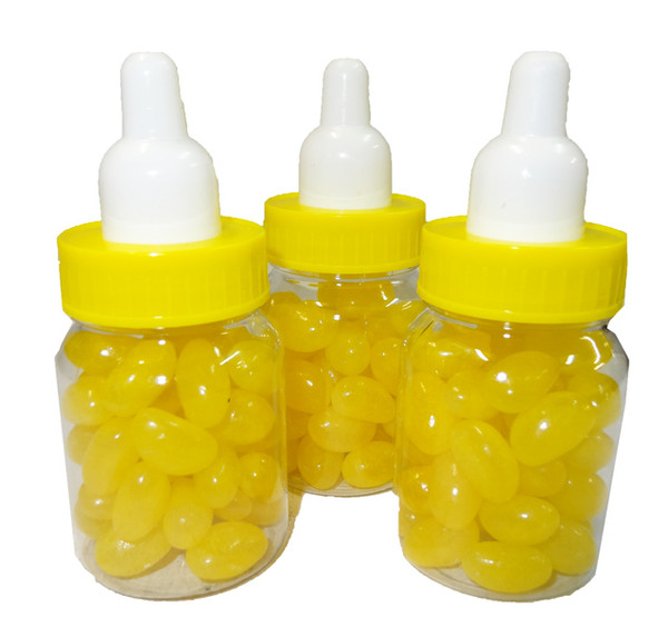 Baby Bottle Jelly Beans - Yellow - Single Colour Yellow Jelly Beans, by Brisbane Bulk Supplies,  and more Confectionery at The Professors Online Lolly Shop. (Image Number :8343)