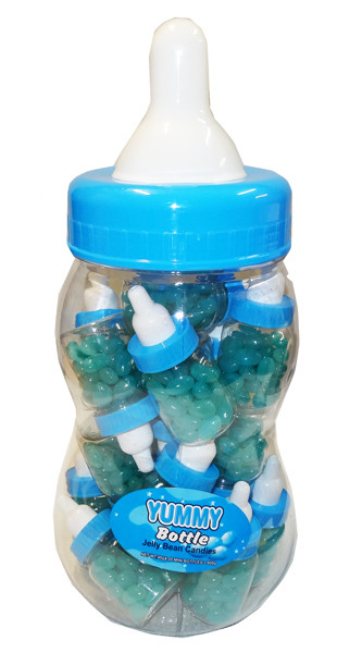Baby Bottle Jelly Beans - Blue - Single Colour Blue Jelly Beans, by Brisbane Bulk Supplies,  and more Confectionery at The Professors Online Lolly Shop. (Image Number :8338)