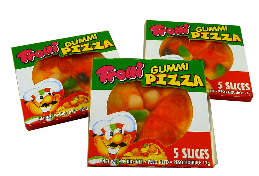 Trolli Mini Gummy Pizza, by Trolli,  and more Confectionery at The Professors Online Lolly Shop. (Image Number :8072)