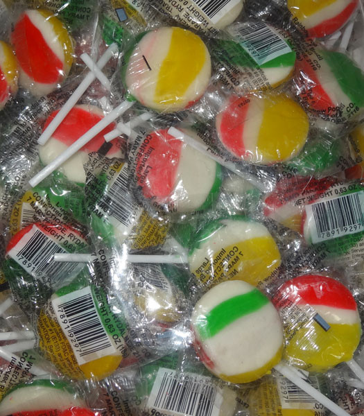 Finetime Rainbow Pops - Large and more Confectionery at The Professors Online Lolly Shop. (Image Number :8113)