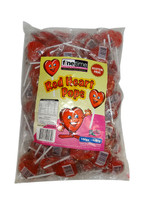 Red Heart Pops - Large and more Confectionery at The Professors Online Lolly Shop. (Image Number :9709)