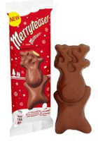 Merryteaser - Milk Choc Reindeer, by Mars,  and more Confectionery at The Professors Online Lolly Shop. (Image Number :8083)