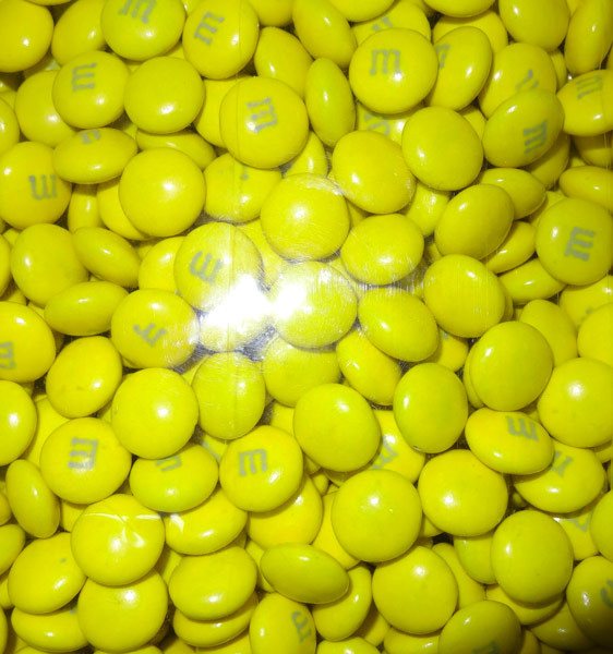 Single Colour M&M s - U.S Yellow and more Confectionery at The Professors Online Lolly Shop. (Image Number :8163)